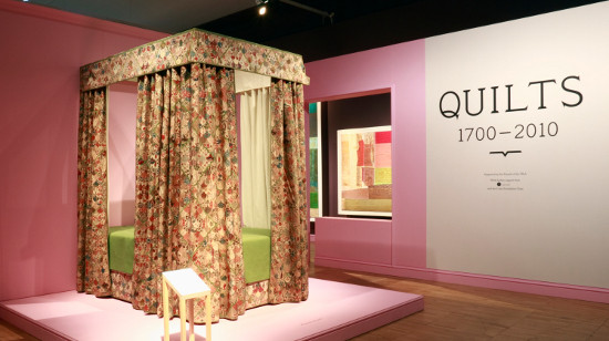 Dorothy Russell at the Victoria and Albert Museum Quilt Exhibition 1700-2010