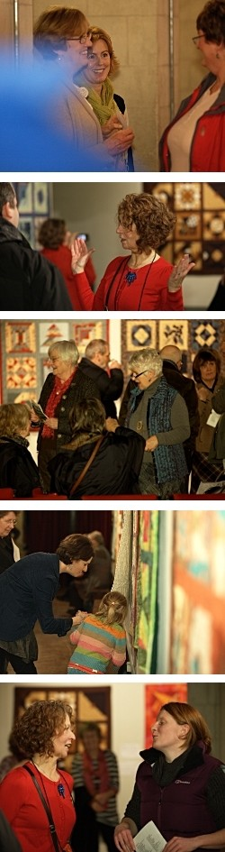 Dorothy Russell Quilt Workshops 2011. Opening of Exhibition'Falling into Place' at Ucheldre, Holyhead
