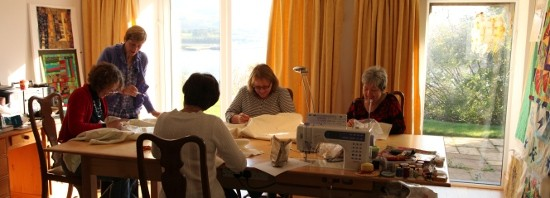 Berclas Holiday Cottage. Wholecloth Quilting Workshop