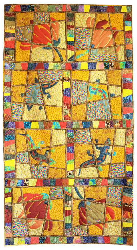 Ghekko. Contemporary Quilt by Dorothy Russell