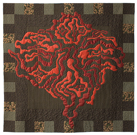 Notan. Contemporary Quilt by Dorothy Russell