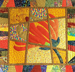 detail image of a Magic Tile Quilt by Dorothy Russell
