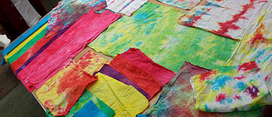 fabric dyeing workshop. Summer 2013. Dorothy Russell