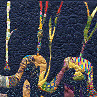 Beyond the Wall. Art Quilt by Dorothy Russell