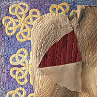 Branwen 2. Art Quilt by Dorothy Russell