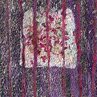 Just one feather 1. Art Quilt by Dorothy Russell