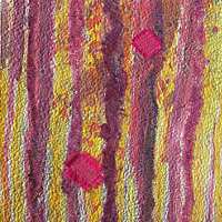 Just one Feather 2. Art Quilt by Dorothy Russell