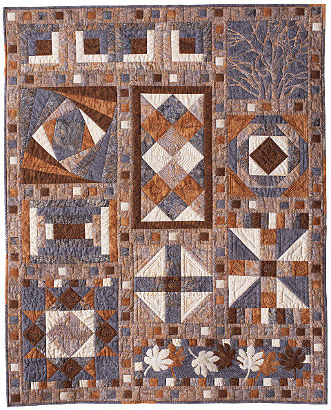 Late Autumn. Pieced contemporary by Dorothy Russell