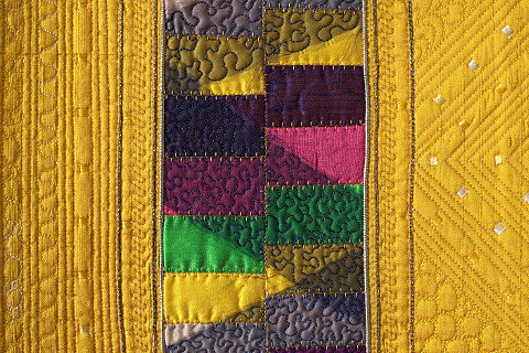 Schizm 3. Art Quilt by Dorothy Russell