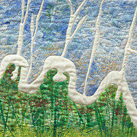 Beyond the Wall 2. Art Quilt by Dorothy Russell