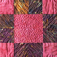 Pink Diamond. Contemporary pieced. Dorothy Russell