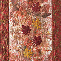 Red Leaves. Art Quilt. Dorothy Russell