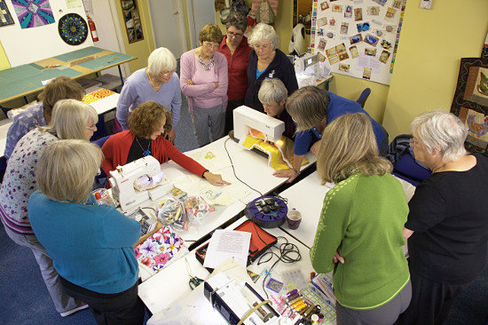 Machine Quilting workshop at region 15W. Penrith