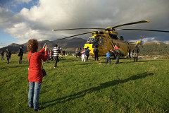 Seaking helicopter landed at Keswick
