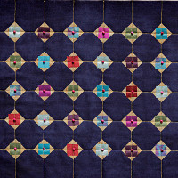 Grid work from a Dorothy Russell Quilt workshop