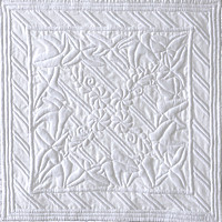 Boutis 1. Art Quilt by Dorothy Russell