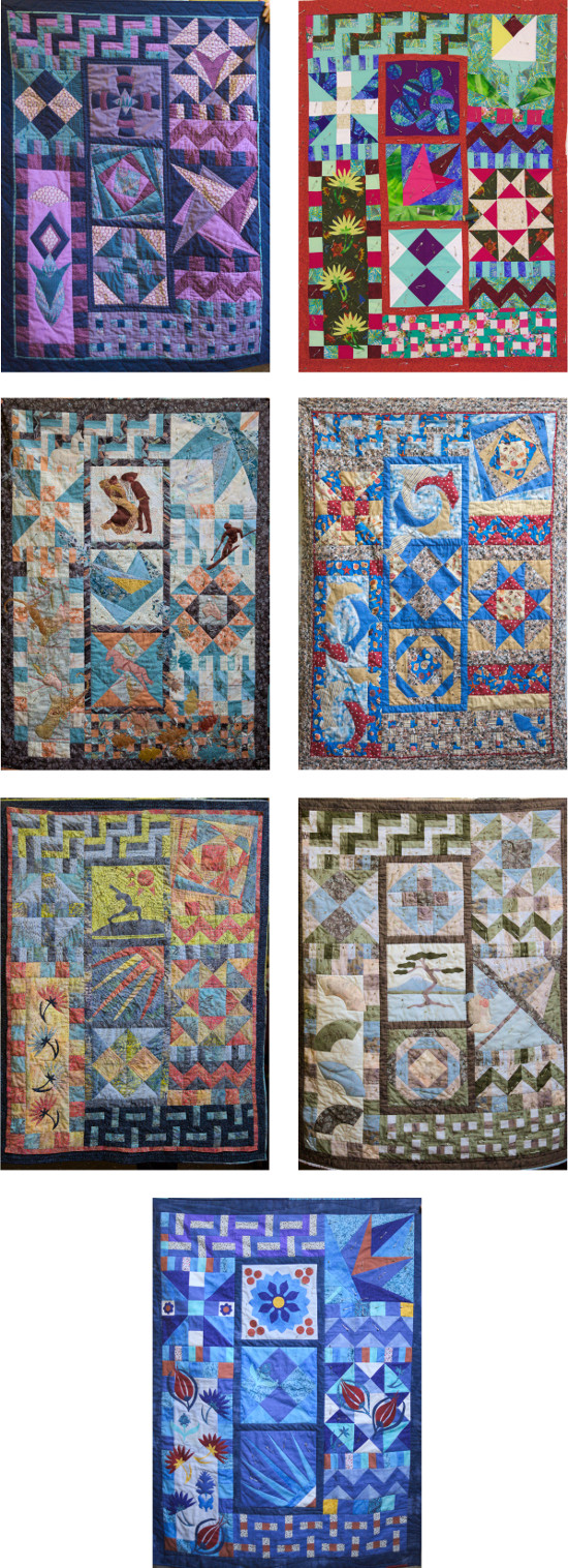 Dorothy Russell Quilt Courses. last day of Beginners March 2015