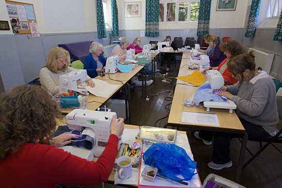 machine Quilting class by Dorothy Russell 2015