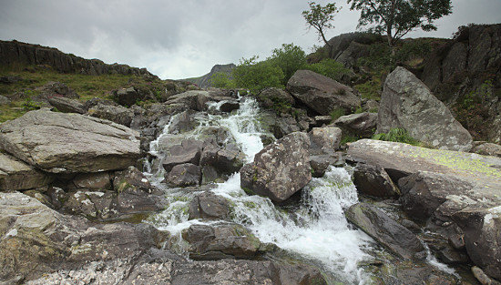 The waterfall at Ogwen Cottage, Snowdonia
