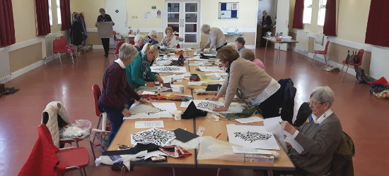 Dorothy Russell Workshop with Solway Quilters in Dumfries