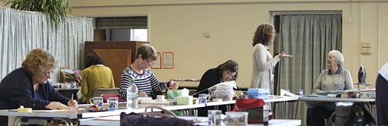 Dorothy Russell Quilt workshop in Ruthun North Wales