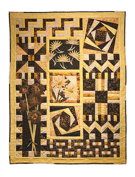 Sample beginners Quilt for September 2016 course, by Dorothy Russell