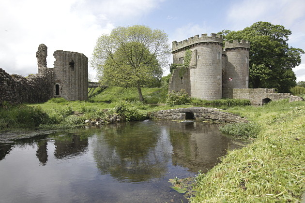 Whittington Castle in Shropshire