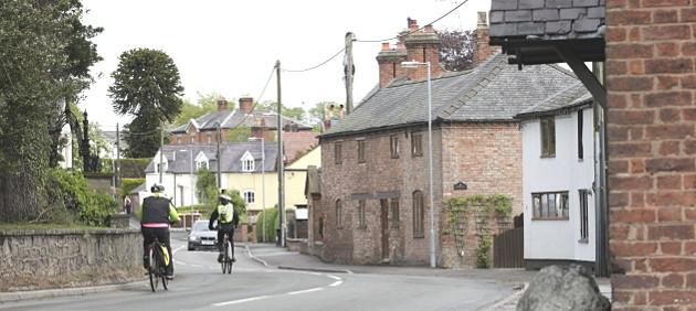 Whittington street opposite the Castle