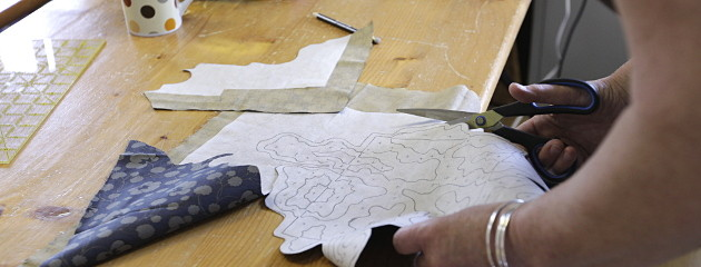 cutting and trimming the shapes for Notancutting and trimming