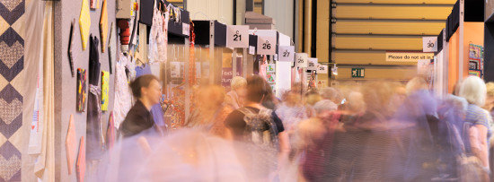 Stands at the 2016 Festival of Quilts. NEC.