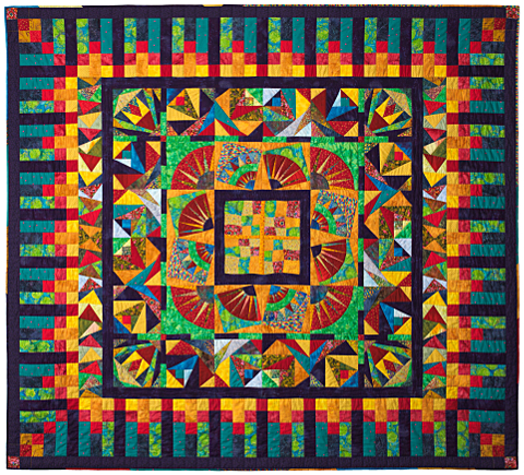 Dorothy Russell Quilt. Bright Medallion