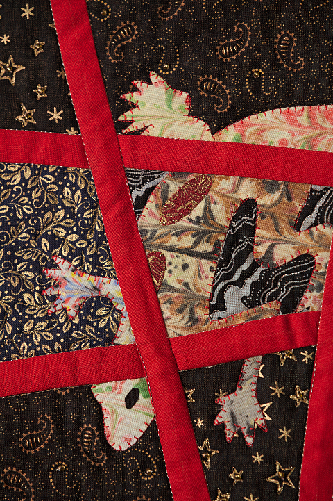 Dorothy Russell Quilt. Gecko 2. Detail