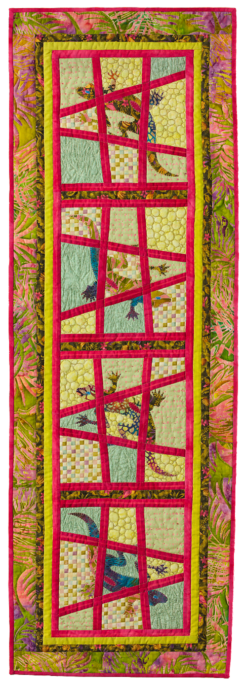 Dorothy Russell Quilt. Gecko 3