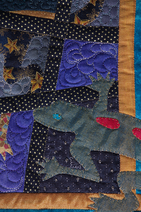 Dorothy Russell Quilt. Gecko 4. Detail