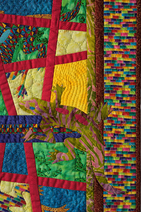Dorothy Russell Quilt. Gecko 5. Detail