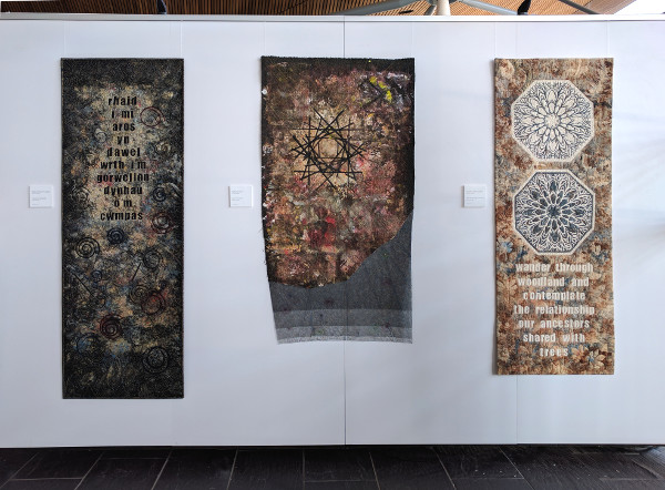 Dorothy Russell'Textiles in Transition' Quilt exhibition at Y Senedd in Cardiff