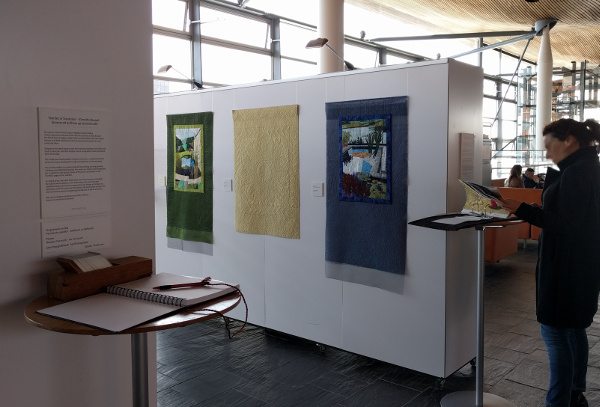 Dorothy Russell Quilt exhibition at Y Senedd in Cardiff