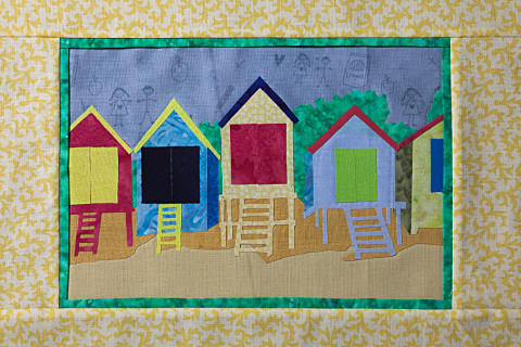 Sample landscape for a Dorothy Russell Quilt Workshop