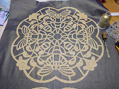 Applique Mandala in making. A workshop by Dorothy Russell